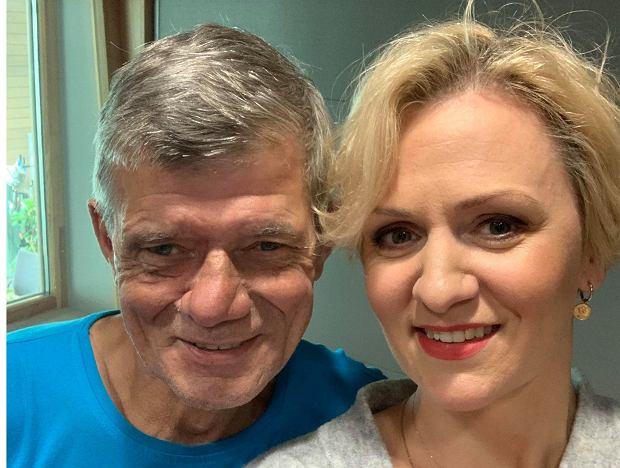 Henryk Gołębiewski i dziennikarka Radia Pogoda Anna Stachowska w studiu