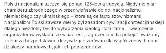 Petycja pod hasłem:  'Sprzeciw wobec antynarodowej propagandy na Uniwersytecie Warszawskim'.