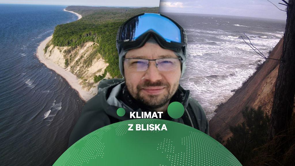 Marcin Winowski z UAM w Poznaniu od kilkunastu lat bada m.in. nadbałtyckie klify