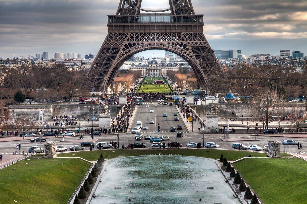 Paryż. Francja. Wieża Eiffla