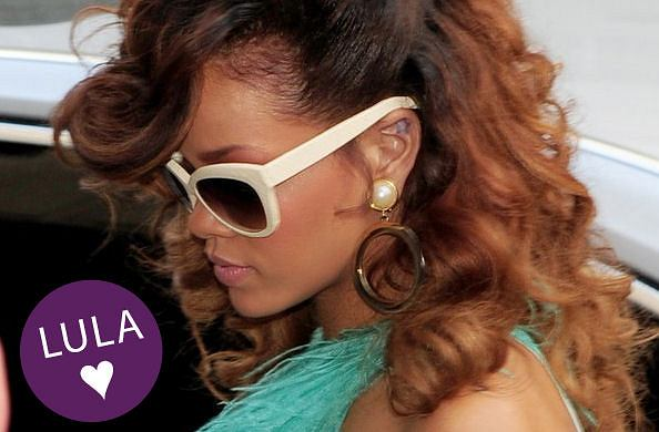 Rihanna w okularach Linda Farrow Luxe