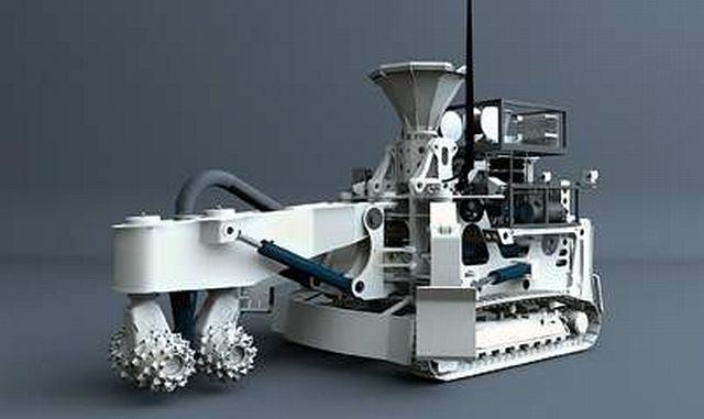 Podwodmorski robot górniczy