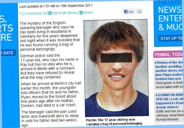 17-latek twierdzi, że spędził w lesie pięć lat.
