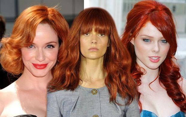 rude włosy