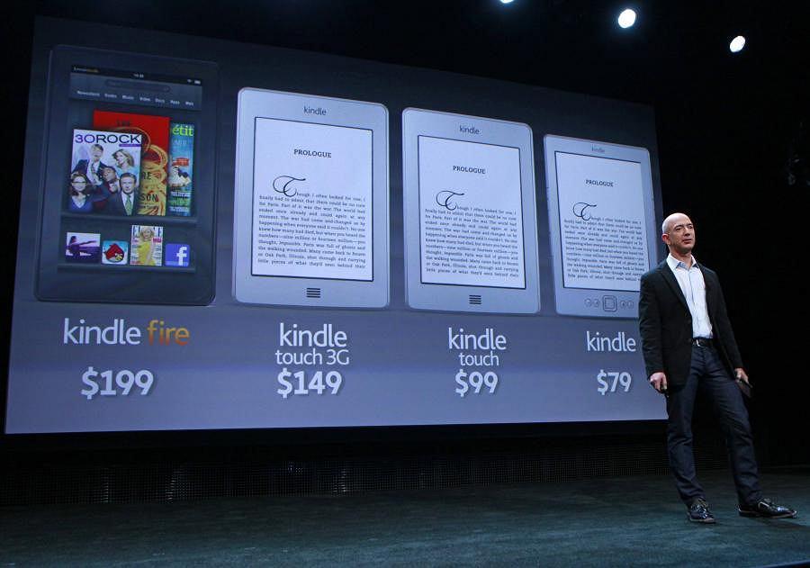 Jeff Bezos prezentuje wszystkie nowe czytniki Kindle