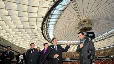wizyta Michela Platiniego na Stadionie Narodowym
