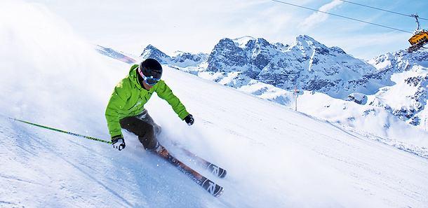 Narty w Alpach.