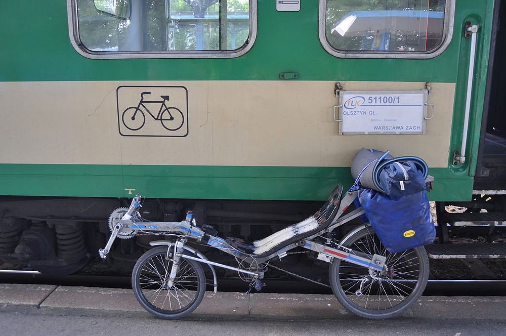 Wagon rowerowy w składzie TLK