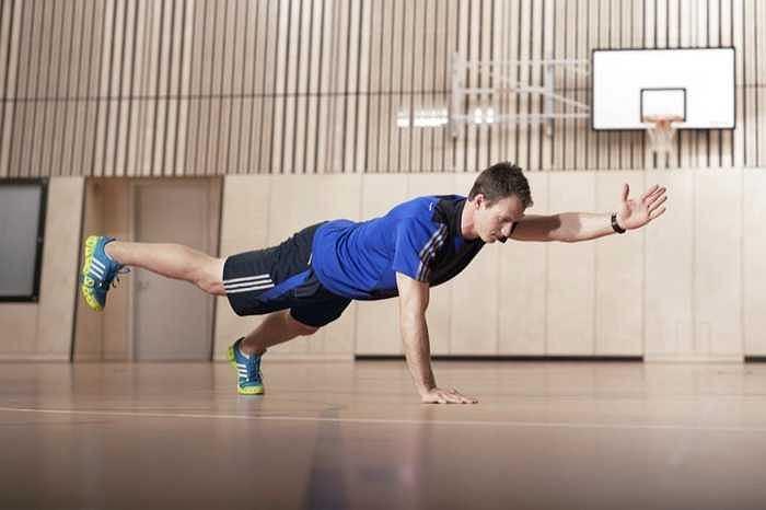 Strój na siłownię firmy adidas.