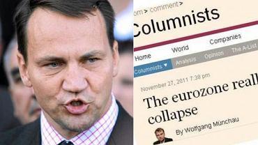 Radosław Sikorski/ komentarz w ''Financial Times''