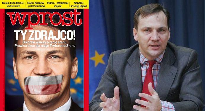 Okładka ''Wprost''/ Radosław Sikorski