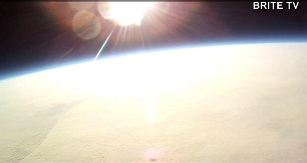 Widok z balonu stratosferycznego