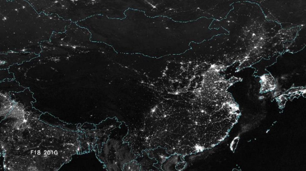 Chiny widziane z kosmosu