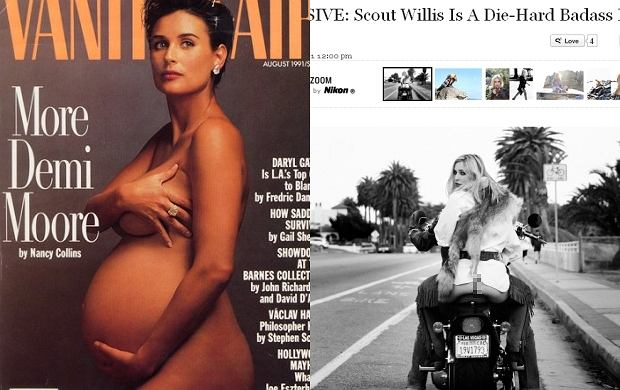 Demi Moore i Scout Willis.