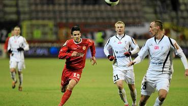 Mariusz Magiera w meczu z Widzewem