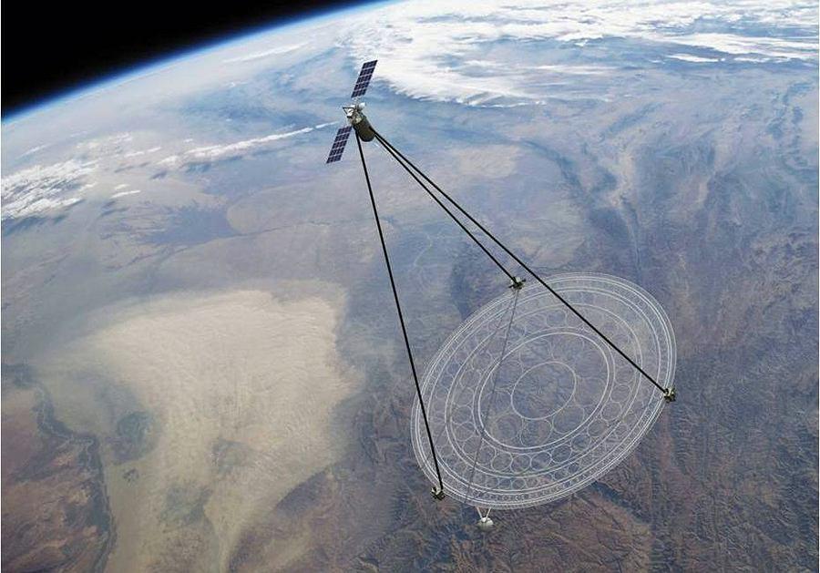 Wizualizacja satelity MOIRE