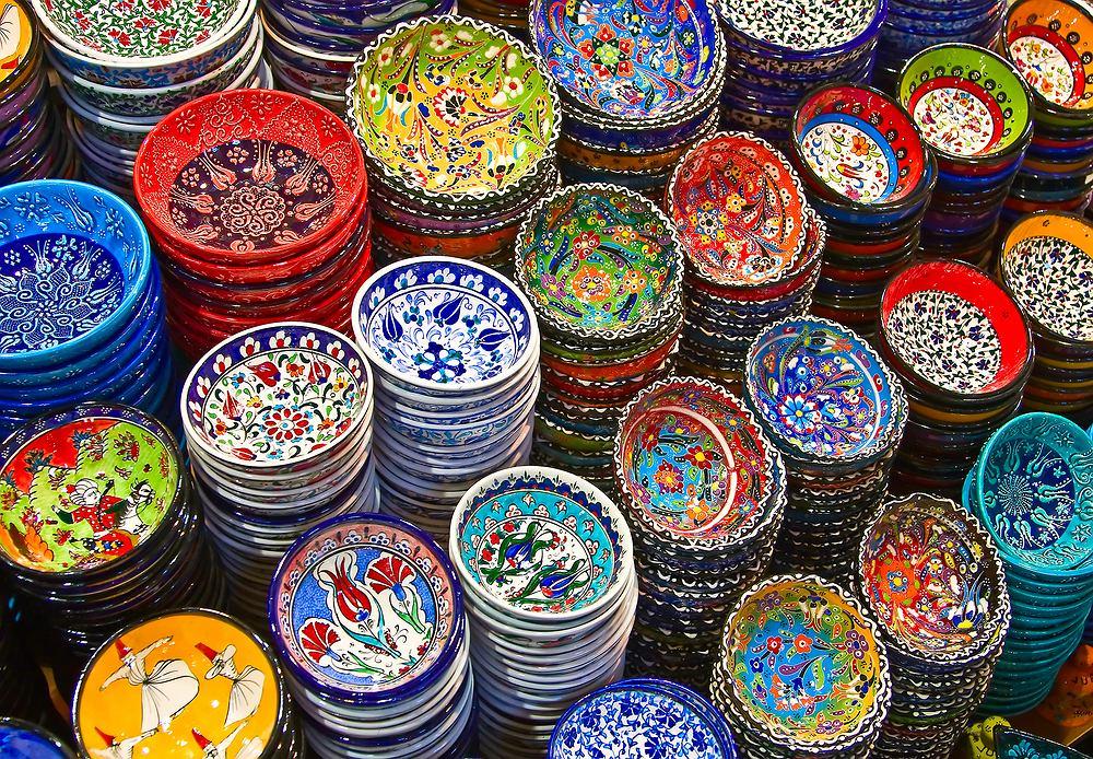 Turcja, ceramika na bazarze, Turcja zdjęcia
