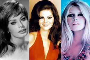 Brigitte Bardot, Claudia Cardinale, Sophia Loren.