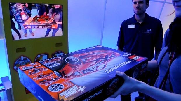 rzeczywistość rozszerzona na stoisku Intela, CES 2012