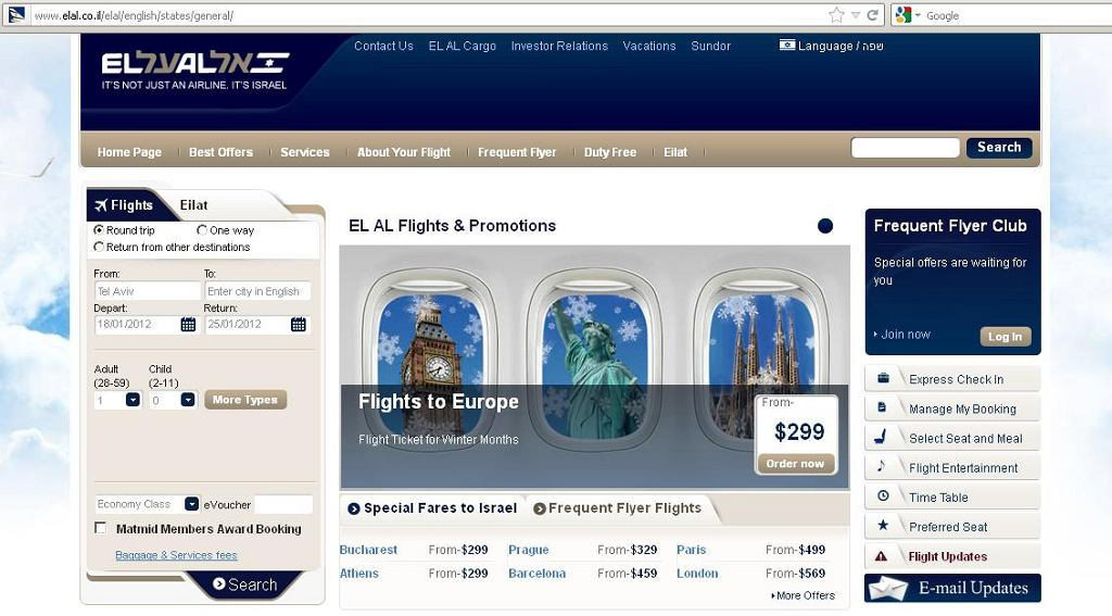 Strona internetowa linii El Al została zaatakowana przez cyberprzestępców