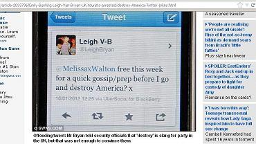 Zakaz wstępu do USA za wpisy na Twitterze