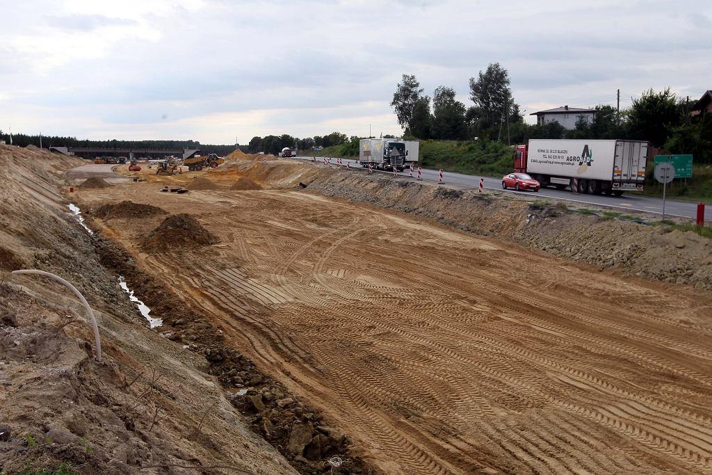 Budowa drogi nr 8 koło Tomaszowa Maz. - sierpień 2011