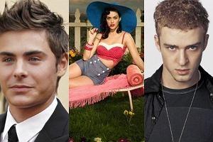 Zac Efron, Katy Perry i Justin Timberlake.