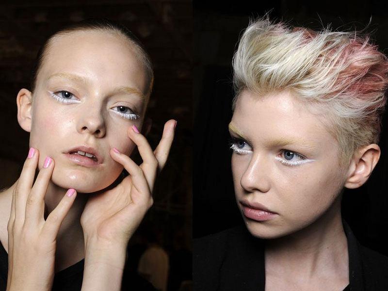 Makijaż z białym akcentem