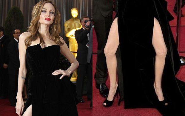 Angelina Jolie i jej noga.
