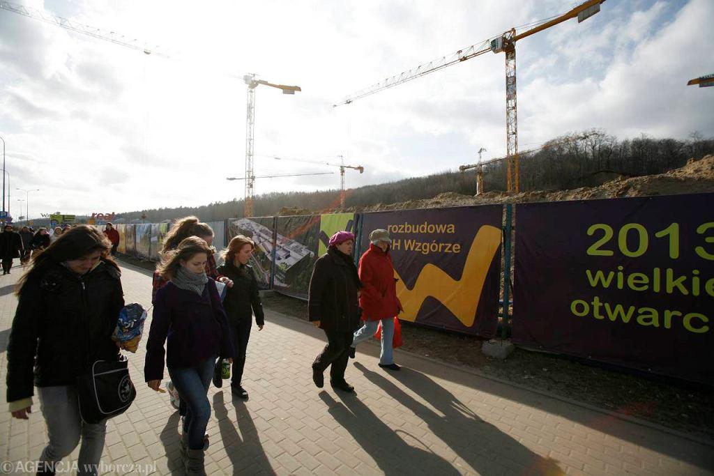 Gdynia. Budowa centrum handlowego Wzgórze