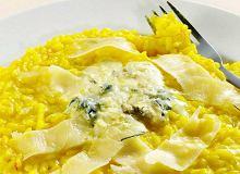 Risotto szafranowe z gorgonzolą i parmezanem - ugotuj