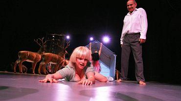 Katarzyna Figura na próbie przedstawienia Peer Gynt w Teatrze Dramatycznym