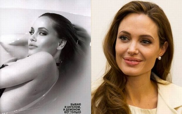 Tatyana Vorzheva, Angelina Jolie.