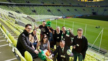 Dziennikarze z Irlandii podczas wizyty na PGE Arenie w Gdańsku