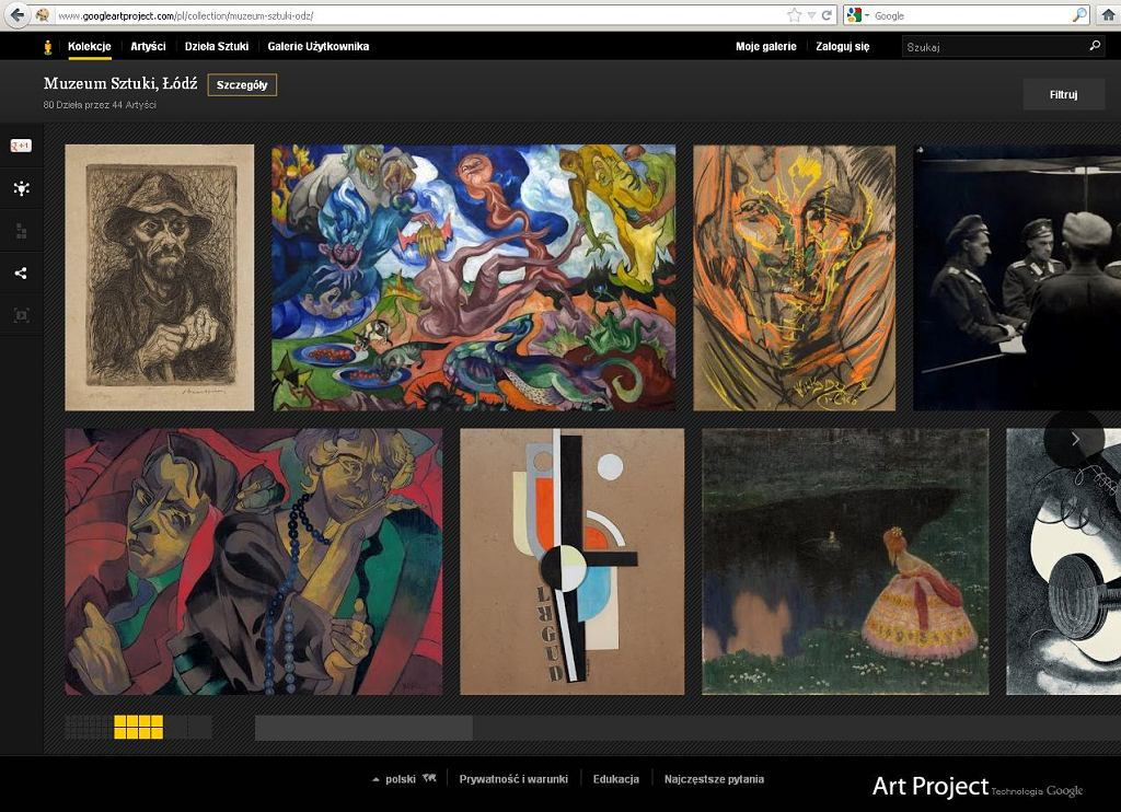 Muzeum Sztuki w Łodzi w Google Art Project