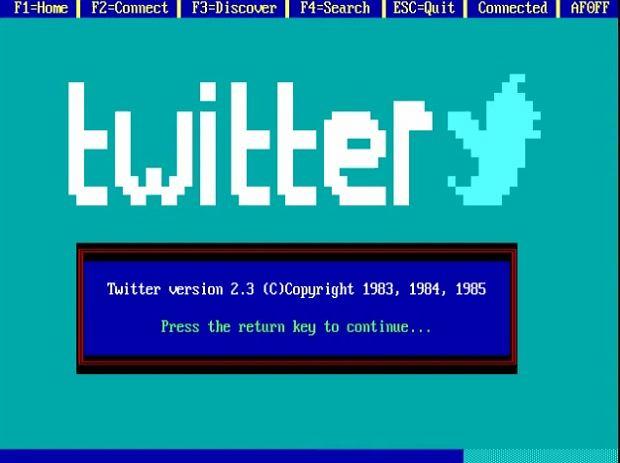 Twitter w latach osiemdziesiątych