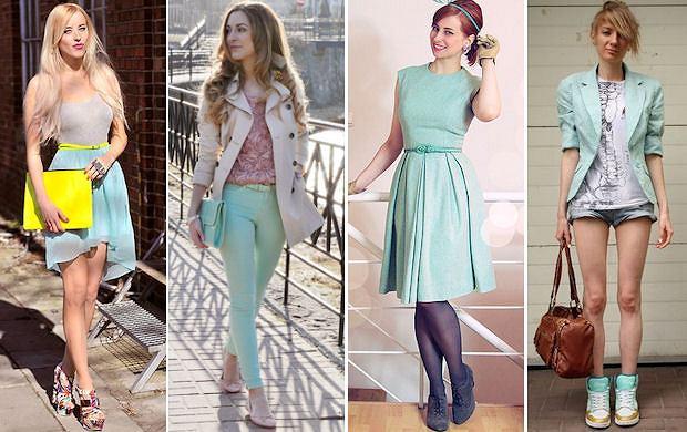 Jak nosić miętę: stylizacje szafiarek