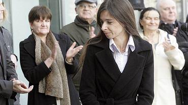 Marta Kaczyńska na wystawie poświęconej jej zmarłemu ojcu - prezydentowi Lechowi Kaczyńskiemu