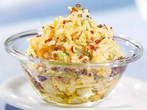 Ostry ryż curry z jogurtem