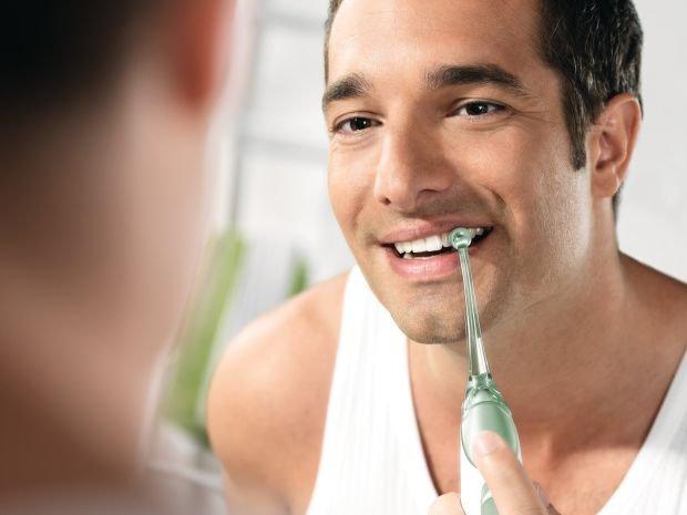 Wyczyść zęby pod ciśnieniem