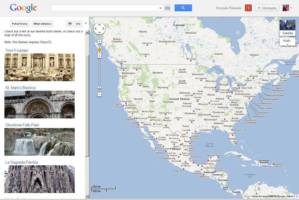 Fotowycieczki w Google Maps