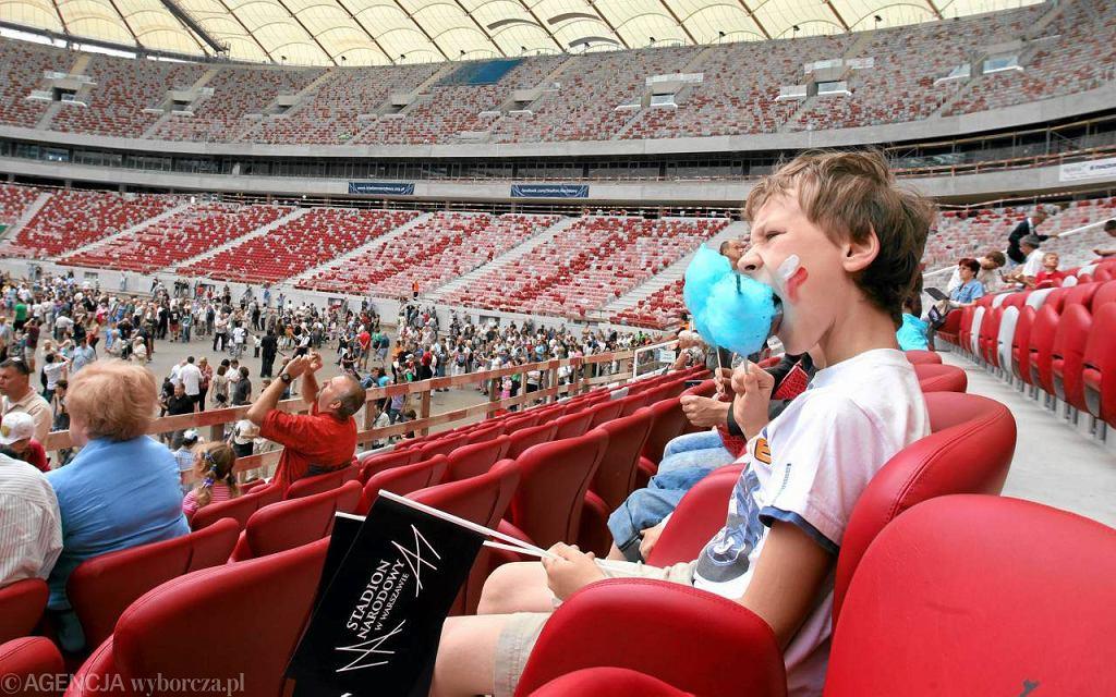 Stadion Narodowy w Warszawie w trakcie Dnia Otwartego dla zwiedzających, 2011 r.