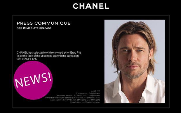 Brad Pitt twarzą perfum Chanel No. 5