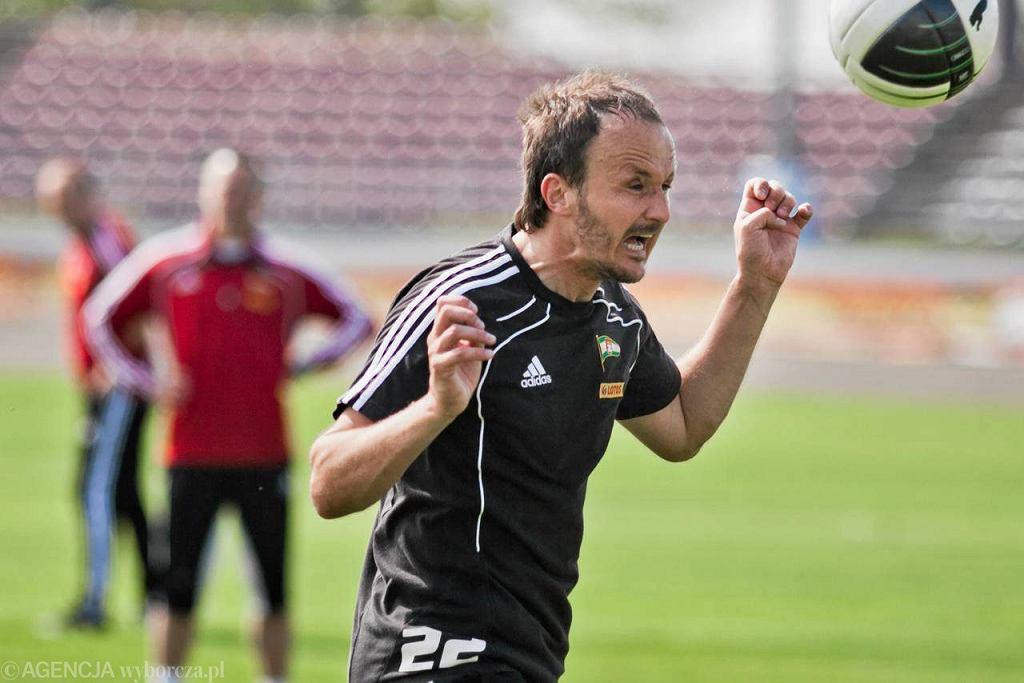Paweł Nowak podczas treningu