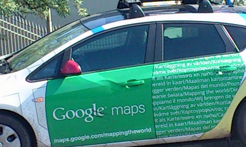 Stłuczka Google StreetView