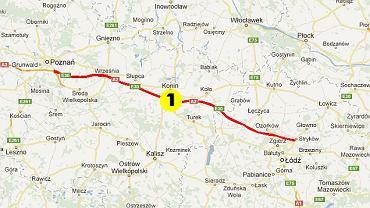 Pierwsza część autostrady z Strykowa do Konina zarządzana jest przez Krajową Dyrekcję Dróg i Autostrad. Koszt przejazdu - 9,90. Dalej droga do Poznania jest niewspółmiernie droższa - Konin-Poznań kosztuje aż 28 złotych!
