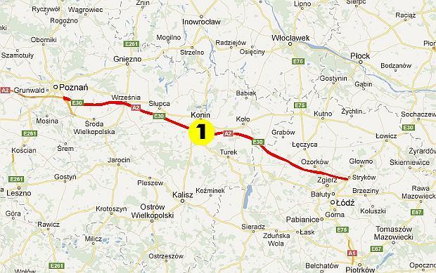 Stara Trasa A2 Mapa Wszystko O Samochodach I Motoryzacji Moto Pl