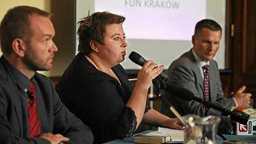 Konferencja prasowa w sprawie strefy kibica na Błoniach podczas Euro. Magdalena Sroka