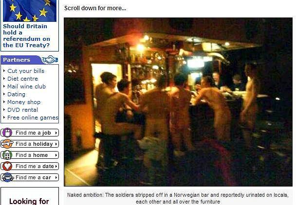 Żołnierze w norweskim barze Sfinx