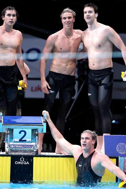 Australijczycy nie szczędzili sobie czułych gestów - sprawiła to radość z wygranej